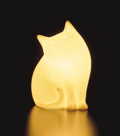 This CAT LAMP BY NARUMI, JAPAN makes me smile. I would love this in a bedroom