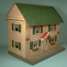 American all-original petite doll's house by Albert Schönhut (Schoenhut) & Company (1872-1935).