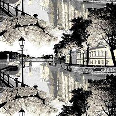 Aurajoki kangas tulee Vallilalta ja sen on suunnitellut Riina Kuikka. Aurajoki kuuluu Vallilan suosittuun kaupunkikuosien kokoelmaan. Kuosi kuvaa Aurajoen varren maisemaa. Kangas sopii verhoksi, mutta siitä voi ommella myös tyynynpäällisiä tai vaikka pöytäliinan.