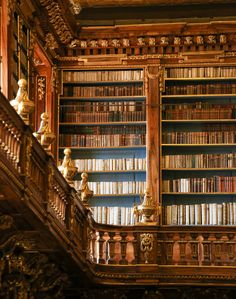 Antique books in the Library of Strahov Monastery, Prague, Czech Republic