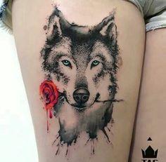 Wolf Tattoos For Women - Yahoo Image Search Results Piercing Tattoo, Hawaiianisches Tattoo, Body Art Tattoos, Piercings, Tattoo Paper, Ink Tattoos, Tatoos, Tattoo Wolf, Tattoo Tribal