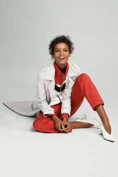 Liya Kebede elevates the humble tracksuit with the addition of a flowing trench coat. Nail her take on the spring summer '17 athleisure look with the addition of strappy slingback heels. Marc Cain Sports Tracksuit; Filippa K Trench Coat; Högl Slingbacks