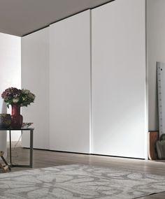 Wall Wardrobe Design, Bedroom Closet Design, Bedroom Wardrobe, Home Bedroom, Sliding Wardrobe Doors, Built In Wardrobe, Floor To Ceiling Wardrobes, Sliding Cupboard, Ideas Dormitorios