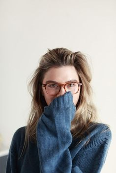 cool frames, comfy sweater by linfirefly