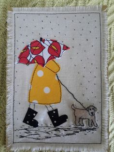 This, that and everything inbetween: It&aposs raining here today Much needed rain today, although with the high temperatures it&aposs SO hu. Hand Applique, Machine Applique, Applique Patterns, Applique Quilts, Applique Ideas, Applique Designs, Freehand Machine Embroidery, Free Motion Embroidery, Free Machine Embroidery