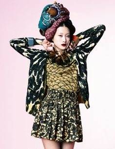 Color and Pattern, Harper's Bazaar Korea, (african print fabrics) March 2012, Hong Jang Hyun, Photographer