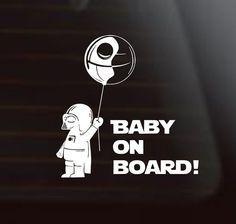 Star Wars Car Decal Star Wars Baby On Board by SweetPeaCharlies
