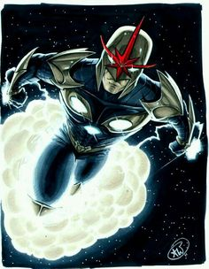 Nova by AdamWithers on DeviantArt Marvel Comics, Manga Comics, Marvel Heroes, Marvel Comic Character, Marvel Characters, Jean Grey, Alter Ego, Marvel Fan Art, Superhero Design