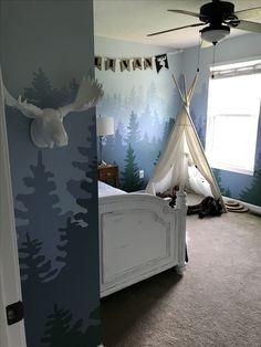 Baby Boy Nursery Room İdeas 748301294314555529 - Mountain mural big boy room Source by