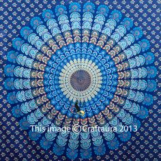Hippie Tapestries Tapestry Wall Hanging Mandala by CraftAuraHome, $19.99