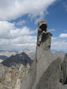 Summit of Starlight Peak, Alpine Rock Climbing Palisades, Sierra, CA