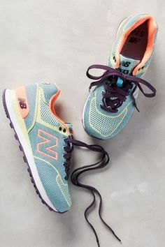 New Balance Woven 574 Sneakers - anthropologie.com