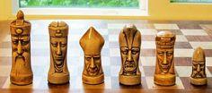 Ganine Gothic Chess Set Classic Grim Faces Solid Heavy Cast Antiqued 625 | eBay