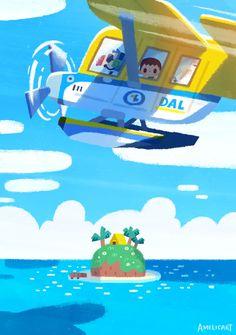 art direction Animal Crossing Tribute New Horizons on Behance Animal Crossing Fan Art, Animal Crossing Villagers, Animal Crossing Memes, Candy Hearts, Fanart, New Leaf, Cute Wallpapers, Game Art, Design Art