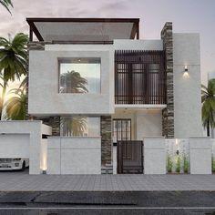 8 Beautiful House Facade Ideas to Give You Inspiration Modern House Facades, Modern Architecture House, Modern House Plans, Bungalow House Design, House Front Design, Modern House Design, Home Building Design, House Elevation, Villa Design