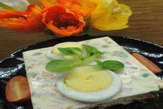 Jak připravit velikonoční vaječnou tlačenku   recept Panna Cotta, Eggs, Breakfast, Ethnic Recipes, Food, Morning Coffee, Dulce De Leche, Egg, Meals