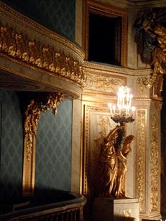 Marie Antoinette loved the theatre and she always wanted to be an actress, therefore, she had her own personal theatre built for performances for her friends and guests. Since she was also a very chic Queen, in order to keep her skin fair, the Queen attached a passage from to the Theatre to the Petit Trianon.