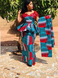 latest ankara skirt and blouse Ankara Skirt and Blouse Styles 2019 for African Queen African Lace Dresses, Latest African Fashion Dresses, African Print Fashion, Ankara Skirt And Blouse, Ankara Dress Styles, Blouse Styles, Latest Ankara Gown, Latest Ankara Styles, African Attire