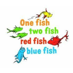 One Fish Two Fish Red Fish Blue Fish Dr Seuss By