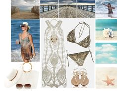 """On The Beach"" by elena-indolfi on Polyvore"