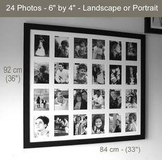 Memories Photo Frames – Black or White - Various Sizes – Multi-Aperture Large Multi Photo Frames, 6x4 Photo Frames, Photo Picture Frames, Photo Wall, Aperture Photo, Memory Frame, Photo Memories, Hanging Pictures
