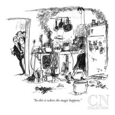 """""""So this is where the magic happens."""" - New Yorker Cartoon Poster Print by Robert Weber at the Condé Nast Collection"""
