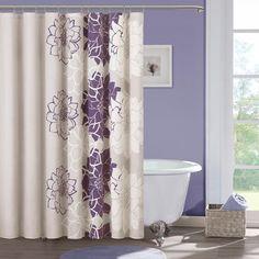 Purple Lola Shower Curtain