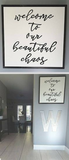 Perfect entryway sig
