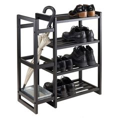Meuble Chaussure Palette : Winsome Isabel Shoe Rack & Umbrella Stand Winsome Isabel Shoe Rack and Umbrella Stand Sharing is caring, don't forget to share 4 Tier Shoe Rack, Metal Shoe Rack, Diy Shoe Rack, Shoe Storage, Shoe Racks, Storage Rack, Industrial Shoe Rack, Industrial Furniture, Wooden Rack