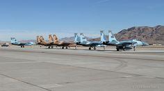80-0054 WA F-15D Eagles 65th Aggressor Squadron