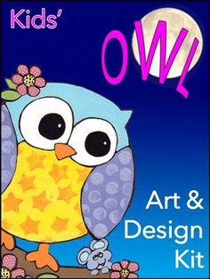 Owl Art and Design Kit Craft Kits For Kids, Crafts For Boys, Art For Kids, Crow Art, Diy Wall Art, Kids Room, Owl, Children, Design