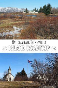 Island Roadtrip - Sehenswertes und Tipps rund um den Nationalpark Thingvellir. Neben der Kirche Þingvallakirkja befindet sich hier auch eines der ältesten Parlamente. Der Platz ist aber auch geologisch von Bedeutung, denn gleich neben der Silfra Spalte befindet man sich in der Zone in der die Amerikanische und die Eurasische Platte aufeinander treffen. www.gindeslebens.com #Island #Roadtrip #Thingvellir #Nationalpark #Þingvallakirkja #Sehenswertes #Tipps Iceland Beach, Iceland Travel, Koh Lanta Thailand, Northern Lights Iceland, Iceland Landscape, Iceland Waterfalls, Reisen In Europa, Far Away, Places To Go