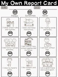 My Own Report Card Freebie - for Parent/Teacher Interviews!! #ParentingTeacher