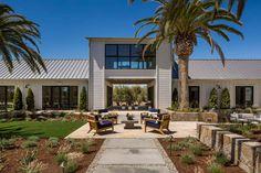 Fresh modern farmhouse style with stunning views of Napa wine country Farmhouse Exterior