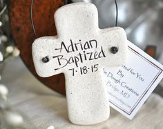 Salt Dough Personalized Baptism Ornaments Etsy :: Your place to buy and sell all things handmade