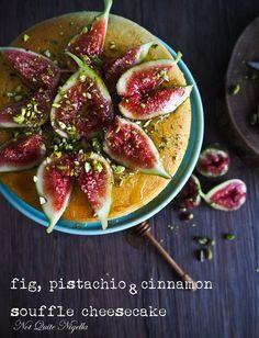 Fig, Pistachio & Cinnamon Souffle Cheesecake