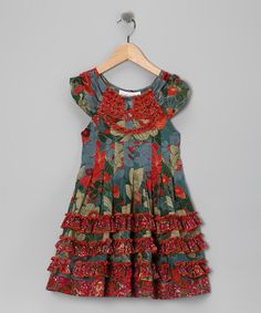 Take a look at this Red Ruffle Yoke Dress - Toddler & Girls by Yo Baby on #zulily today!