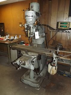 """PA - CNC & Tool Room Equipment - August 28th - Bidding Open August 16th - 28th Auction starts to close at 1 PM eastern on the final day of bidding  BRIDGEPORT J-HEAD MILLING MACHINE, S/N 97307, 9"""" X 42"""" TABLE, AUTO X FEED MITUTOYO DRO, 230 VOLT, SINGLE PHASE.  Available at Online Auction at http://www.acceleratedbuysell.net/cgi-bin/mnlist.cgi?perillo50/category/ALL"""