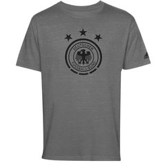 Germany adidas Futbol Crest T-Shirt - Gray
