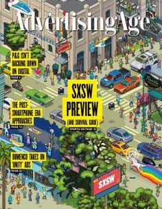 March 06, 2017 –  Your SXSW Survival Guide: Festival Pros on What to Wear, Eat, See and Do (Illustration by Megapont for Advertising Age)