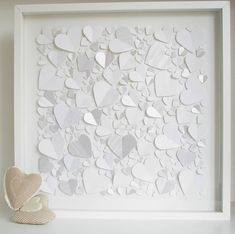 personalised captured hearts framed picture by all in a square | notonthehighstreet.com