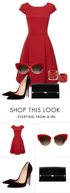 """""""Red and black"""" by andrea-barbara-raemy on Polyvore featuring Mode, Phase Eight, Dolce&Gabbana, Christian Louboutin, Diane Von Furstenberg und Kate Spade"""