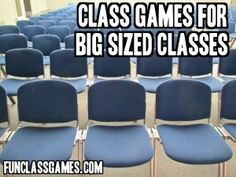 Awesome class games for big sized classes