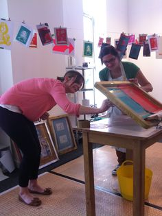 Printing with The Print Room, Middlesbrough
