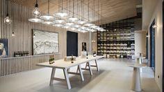 interior sala catas i office cocina caves llopart sant sadurni #cava