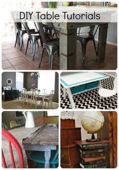 Great ideas on how to make or re-do a table.