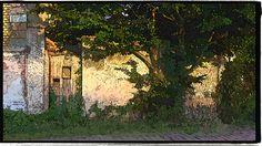 Eingang zum Haus Berliner Damm 3 in Gransee, Oberhavel, Brandenburg - Digital bearbeitetes Foto