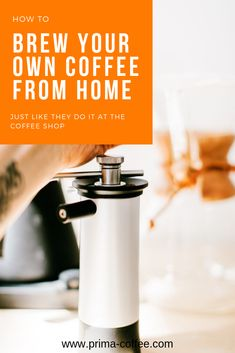 how to brew your own coffee from home, just like they do it at the coffee shop. you can skip the lines at your coffee shop and brew your own amazing coffee at home. #homebrewing #manualhandgrinder #manualbrewing #pourovercoffee