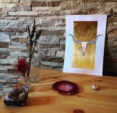 #art #etsyshop #etsy #goldleafimitation #goldleaf #illustration #gold #artofgold #metallicleaf #watercolor #originalart #skull
