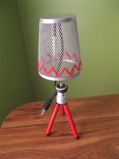 USB lamp made from items from dollar store